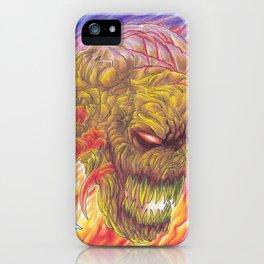 Color Demon Fire Art Illustration iPhone Case