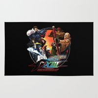 foo fighters Area & Throw Rugs featuring King of Fighters 2013 by Prince Of Darkness
