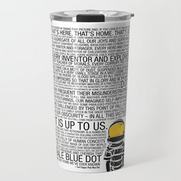 Pale Blue Dot: Carl Sagan Travel Mug