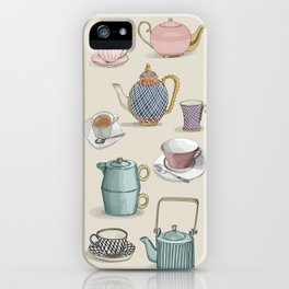 Vintage Teacups and Teapots iPhone Case