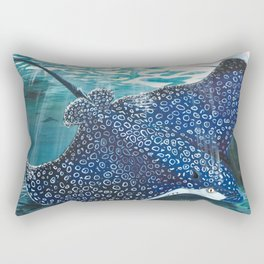 spotted eagle ray Rectangular Pillow