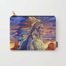 native american colorful portrait Carry-All Pouch