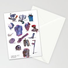 survival kit for human beings Stationery Cards