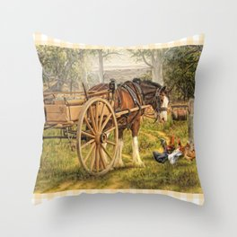 A Little Bit Country Throw Pillow