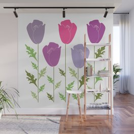Violet Lilac Flowers Wall Mural
