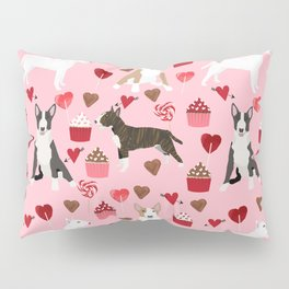 Bull Terrier valentines day cupcakes hearts love mixed coat bull terriers lovers dog breed gifts Pillow Sham