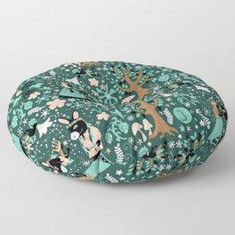 A Midsummer Night's Dream Green Floor Pillow