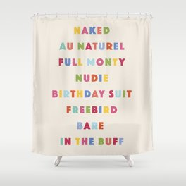 Nudie Colorful Shower Curtain