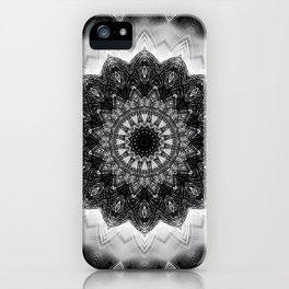 Black and White detailed Mandala design iPhone Case