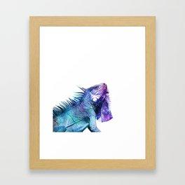 Galactic Iguana Framed Art Print