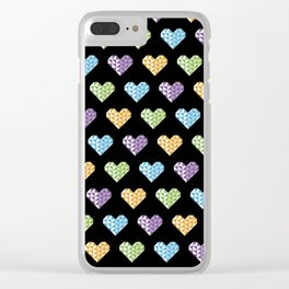 polygons in my heart Clear iPhone Case