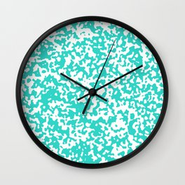 Small Spots - White and Turquoise Wall Clock