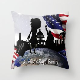 Americas Royal Family Throw Pillow