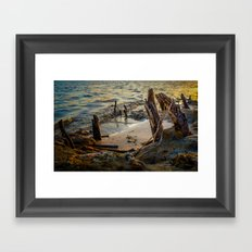 Stranded and Moody Framed Art Print