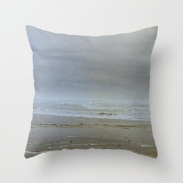 Oregon Coast Waves Throw Pillow