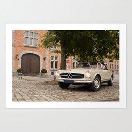 Vintage car I Cabriolet I Hasselt, Belgium I Photography Art Print