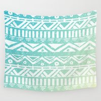 tribal Wall Tapestries featuring Tribal  by Julia