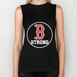 B Strong Boston Marathon Women_s Competition Navy Tribute to Runners boston Biker Tank