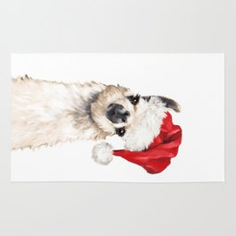 Christmas Llama Rug