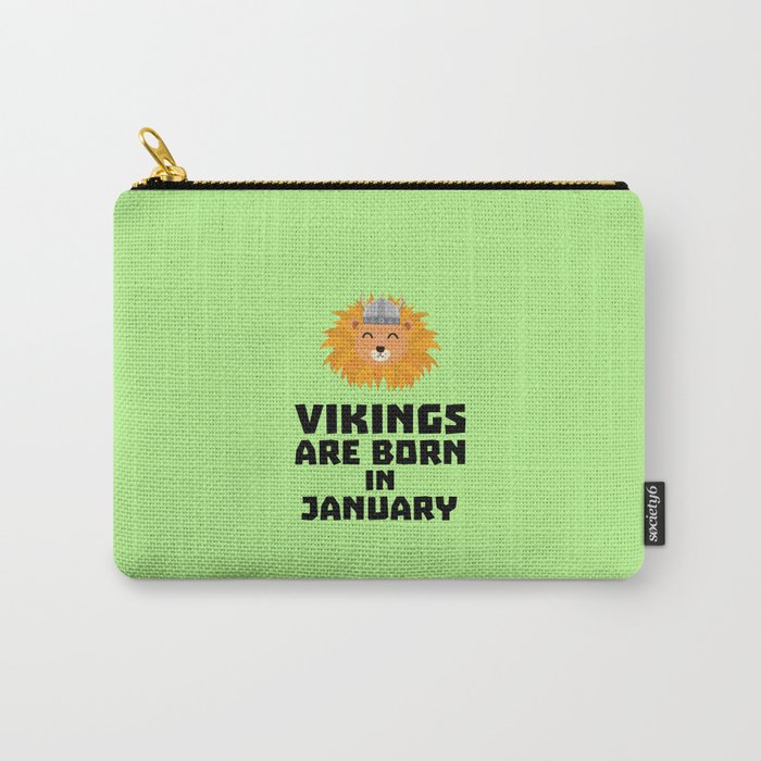 Vikings are born in January T-Shirt for all Ages Carry-All Pouch
