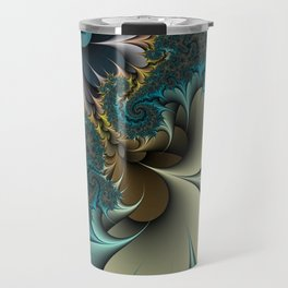 Birds of a Feather Fractal Travel Mug