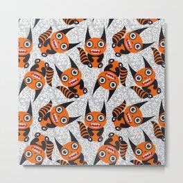 Funny orange monster Metal Print