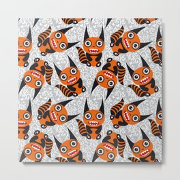Funny orange monster Metal Print