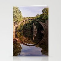 geology Stationery Cards featuring Mystical stone arch by UtArt