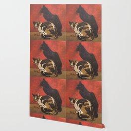 """Théophile Steinlen """"Cats, 1910"""" Wallpaper"""