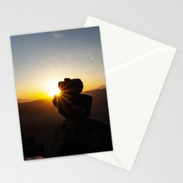 Sunset Behind Nature's Skyscraper Stationery Cards
