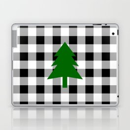 Christmas Tree - black buffalo check Laptop & iPad Skin
