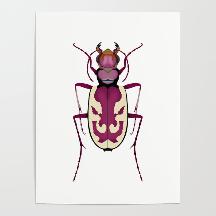 Blowout Tiger Beetle Poster
