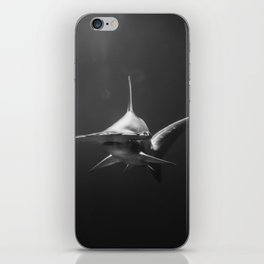 Hammerhead Shark (Black and White) iPhone Skin