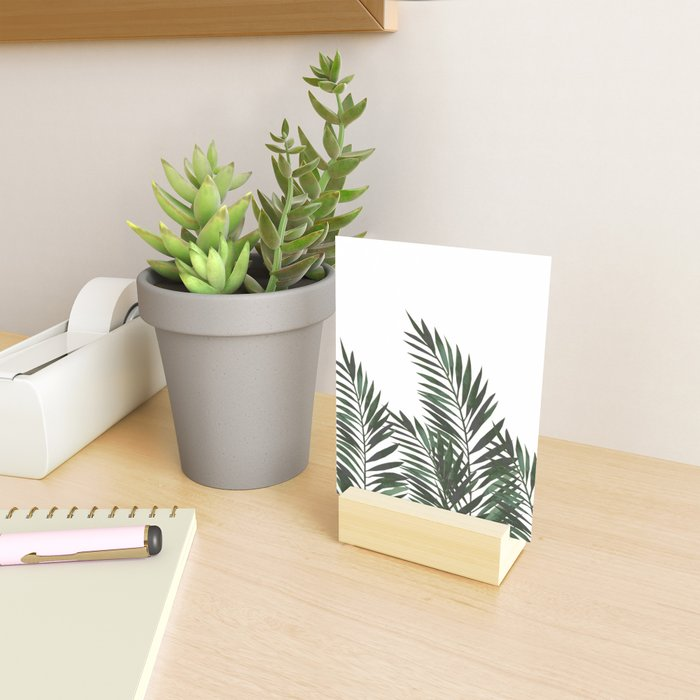Palm Leaves Green Mini Art Print