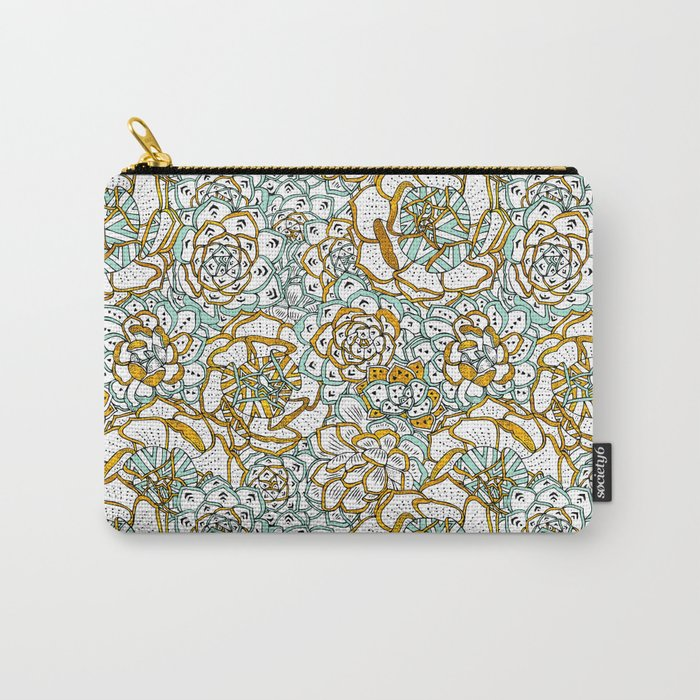 Succulents Garden Carry-All Pouch