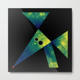 Mouse, Exploring Space Metal Print