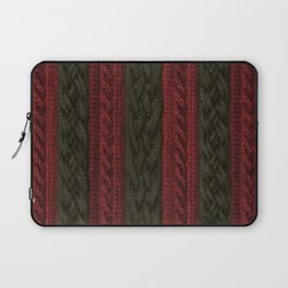 Cable Knit Stripe Laptop Sleeve