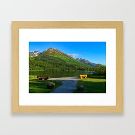 Summit Lake - Kenai Peninsula, Alaska Framed Art Print