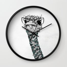 Poetic Ostrich Wall Clock