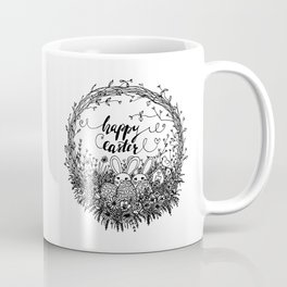 Happy Easter Wreath Coffee Mug