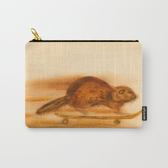 Rider  - Beaver skateboarder Carry-All Pouch