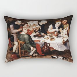 Hieronymus Bosch - The Bacchus Singers Rectangular Pillow