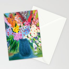 abstract flowers in fun colors Stationery Cards