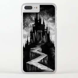Vampire Castle Clear iPhone Case