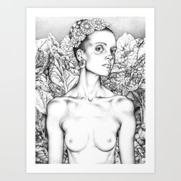 Self Portrait as a Beautiful Lady Art Print