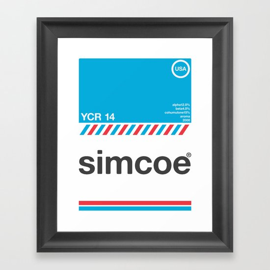 simcoe single hop Framed Art Print