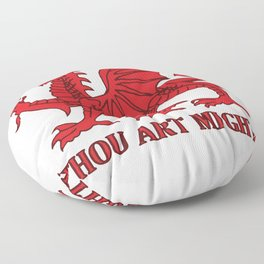 Thou Art Mighty Red Dragon Welsh Rugby Floor Pillow