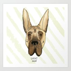 Great Dane Art Print