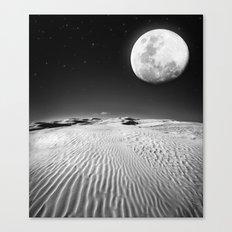 Moon Desert Canvas Print