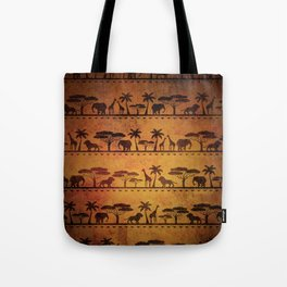 African Animal Pattern Tote Bag